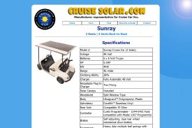 Cruise Solar Powered Golf Cars